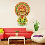 'Traditional Kathakali Dancer Face' Wall Sticker @ Rs 99