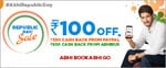 Abhibus Republic day offer : Republic Day Sale - Upto Rs.100 Off + Rs.1000 Cash Back using PayPal on bus booking.