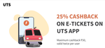 Get 25% Cashback upto Rs.50 when you pay using Freecharge Wallet at UTS App