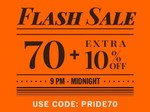NNNOW: Flash Sale 9PM to midnight Code: PRIDE70