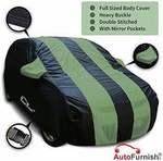 [Buy fast ; loot] Autofurnish Stylish Green Stripe Car Body Cover for Hyundai i10 - Arc Blue @200