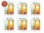 FLAT 70% Off: Wipro Garnet Base B22 9-Watt LED Bulb (Pack of 6)
