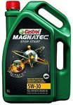 [Lowest ; Buy fast] Castrol MAGNATEC STOP-START 5W-30 API SN Full Synthetic Engine Oil for Petrol, CNG and Diesel Cars (5 L)