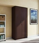 Big discount - Willy Two Door Wardrobe in Walnut Finish by HomeTown (MRP Rs.19,900)