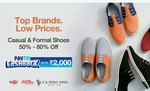 Paytm Mall: 50% - 80% Off On Casual & Formal Shoes + Upto 2000 Cashback ( Flying Machine Us Polo)