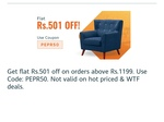 Pepperfry rs501 off code