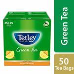Tetley Green Tea Bags, Lemon and Honey, 50 Tea Bags(Pantry)