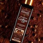 Khadi Global Arabica Coffee Hair Stimulating Oil Infused With Powerful Broccoli Seed Oil With Natural Caffeine & Keratin Oil Formulated in Extra Virgin Olive Oil + Hair Growth Oil + Anti Hair Fall Oil
