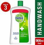 Pantry Loot Back Dettol Germ Protection Handwash Jar - 900 ml (Original, Pack of 3) at Rs.272