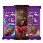 Cadbury Chocolates Combo (2 x Silk Oreo 60g, 2 x Silk Roast Almond 55g and 2 x Bournville Cranberry 80g)
