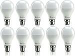 Syska SRL Base B22 9-Watt LED Bulb (Pack of 10, Cool White) + 2 years warranty
