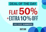 NNNOW Deal Of The Day : Flat 50% + Extra 10% OFF on Apparels and Accessories