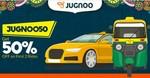Jugnoo : 100% Cashback Upto 100(Till 31 Dec)| 50% OFF First 2 Ride | 50% OFF till 15 Apr (Check Old Account )