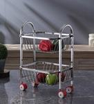 Chakmak silver stainless steel fruit trolley chakmak silver stainless steel fruit trolley 64zfqu